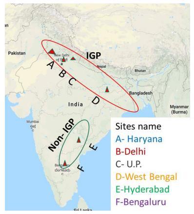 南亚的恒河平原(Indo-Gangetic Plains, IGP)是科学家关注的氮排放热点区域