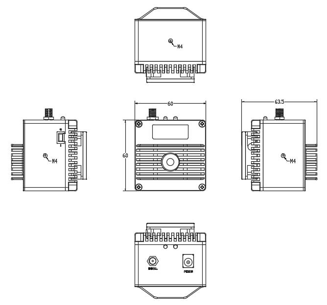 海尔欣HPPD-M-B碲镉汞红外探测器结构尺寸图
